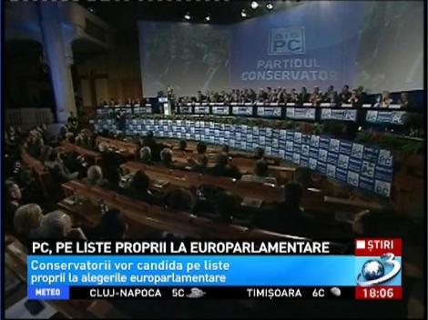 PC, pe liste proprii la europarlamentare