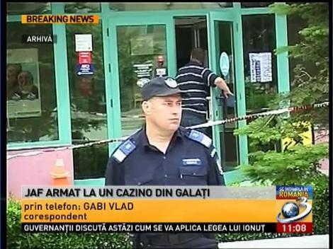 Jaf armat într-un cazino din Galaţi