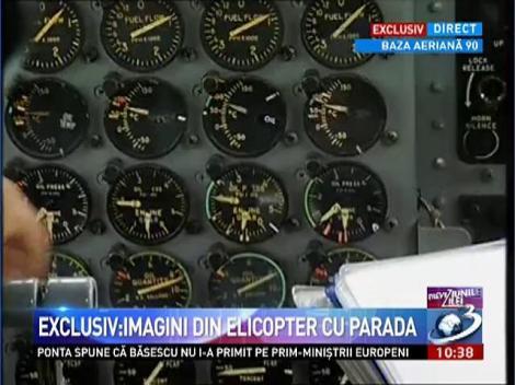 Exclusiv: Imagin din elicopter cu parada. Ponta, la repetiţiile pentru Ziua Naţională