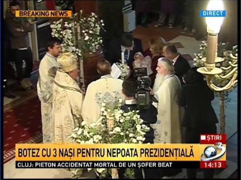 Imagini de la botezul nepoatei presedintelui Traian Basescu