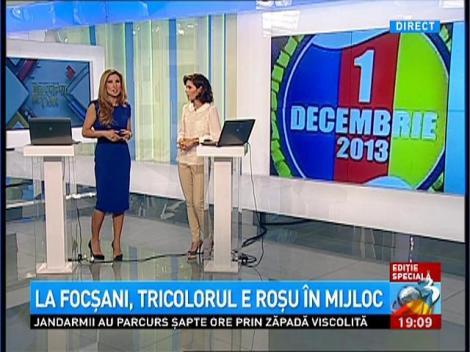 Oficialii din Focşani au greşit culorile drapelului
