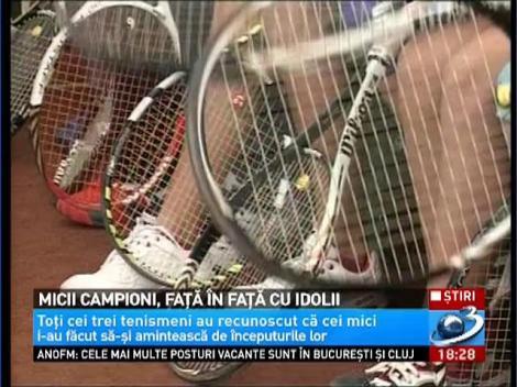 Mici campioni, față în față cu idolii. Sorana Cârstea, Horia Tecău și Simona Halep au jucat tenis cu juniorii