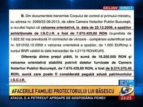 Sinteza Zilei: Afacerile familiei protectorului lui Băsescu
