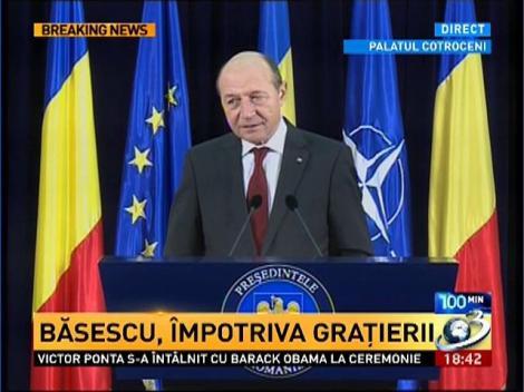 Traian Băsescu: Legea amnistiei şi graţierii, dar şi modificările la Codul Penal nu au avut avizul CSM