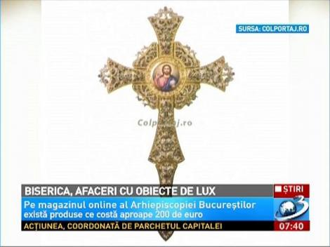 Biserica Ortodoxă Română propovăduieşte LUXUL. Butoni de 200 de EURO, portofele şi SĂPUN sfinţit, pe site-ul BOR