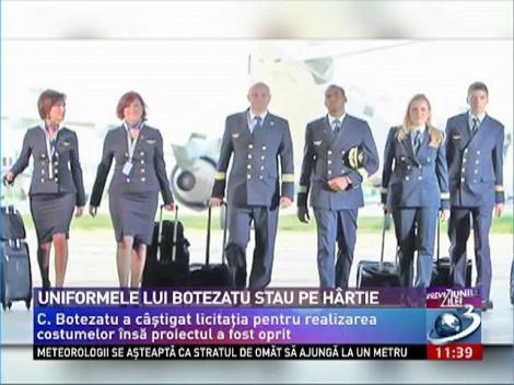 Scandal pe uniformele TAROM. Botezatu a câştigat licitaţia, dar proiectul a fost oprit