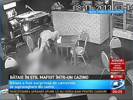 Imagini socante! Bataie in stil mafiot intr-un cazino din Suceava