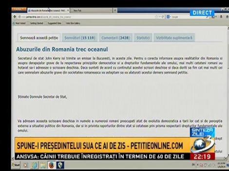 Sinteza Zilei: Ce mesaje au postat românii pe petitieonline.com
