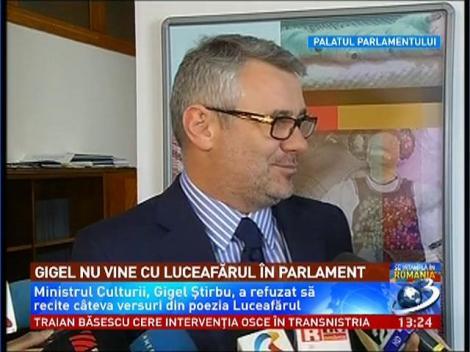 Ministrul Culturii a refuzat să recite din Luceafărul