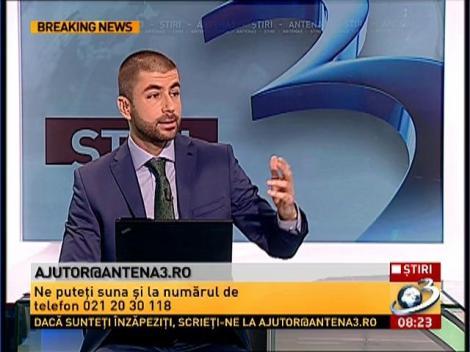 Scrie-ne la adresa de mail ajutor@antena3.ro şi mesajul tău va ajunge la autorităţi