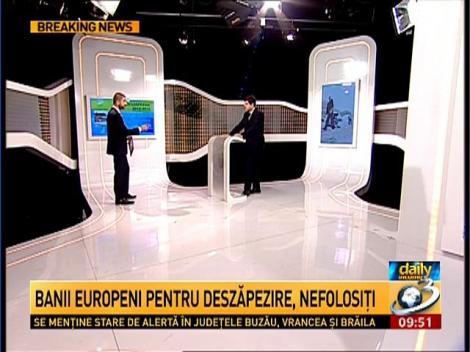 Daily Income: Milioane de euro de la U.E, îngropate în zăpadă