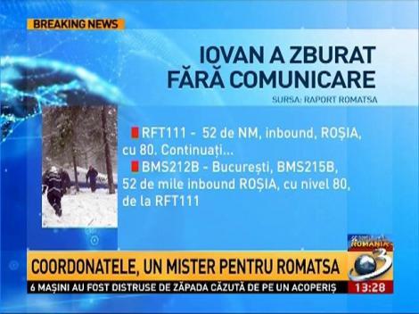 Adrian Iovan a zburat o jumătate de oră fără comunicare