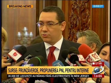 Intalnire Ponta-Antonescu pe tema MAI