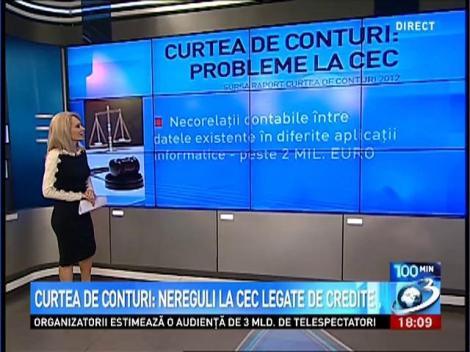 Curtea de Conturi: Nereguli la CEC legate de credite