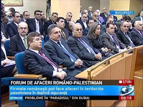 Firmele româneşti pot face afaceri în teritoriile palestinieie în deplină siguranţă