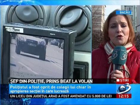 Şeful Serviciului de Înmatriculări şi Permise Auto din Iaşi A FOST PRINS BĂUT LA VOLAN