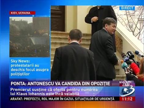Antonescu: Afirmatiile lui Ponta, mincinoase