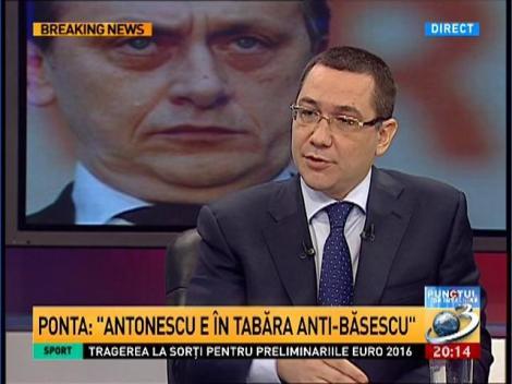 Ponta, despre condiţiile de ruptură ale USL: Dacă va fi cazul, nu va pleca de la domnul Iohannis