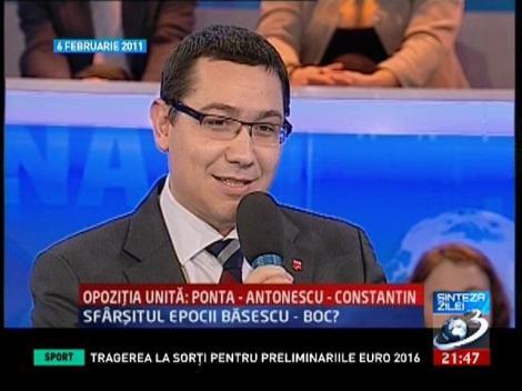 Interviu istoric: Ponta, Antonescu, Constantinescu, în 2011 la Sinteza zilei