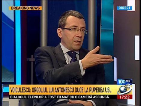 Voiculescu: Orgoliul lui Antonescu duce la ruperea USL