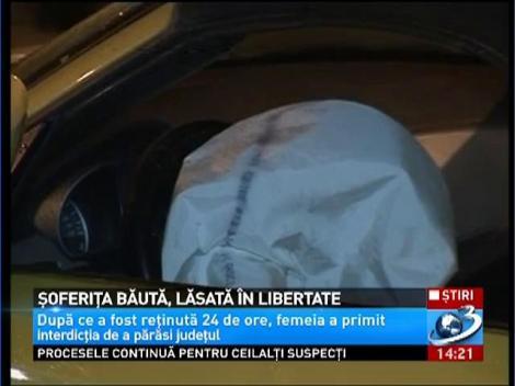 Şoferiţa beată care a provocat un accident în Cluj a fost eliberată