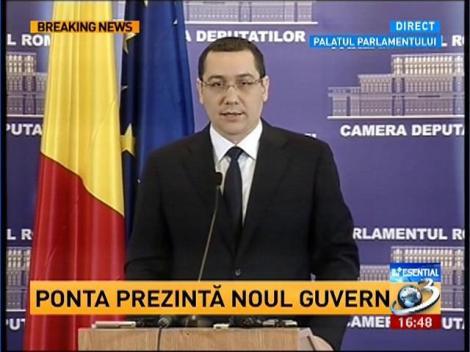 Ponta: Structura Guvernului va fi identică cu cea din 2012