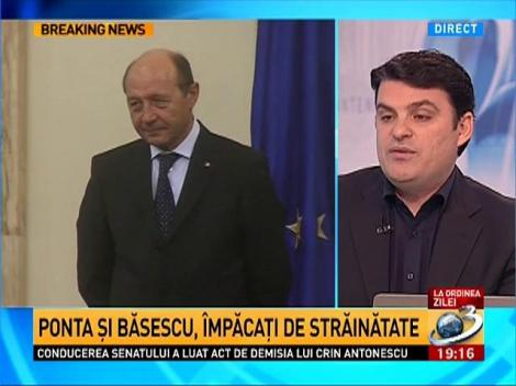 Radu Tudor, despre motivele ascunse ale împăcării bruşte dintre Băsescu şi Ponta