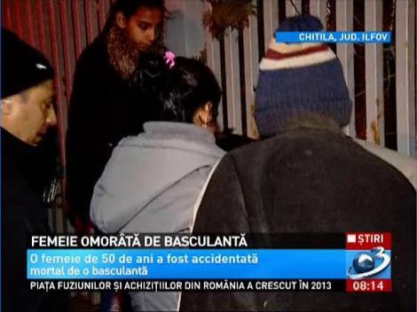 O femeie de 50 de ani din Chitila a fost lovită mortal de o basculantă