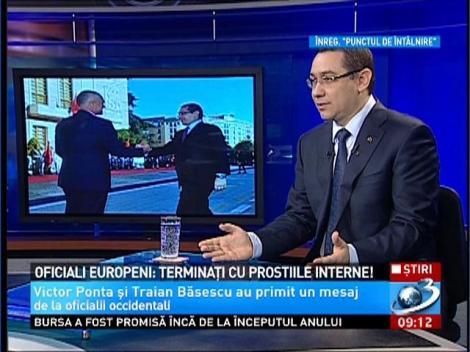 Oficialii europeni, către Ponta şi Băsescu: Terminaţi cu prostiile interne!