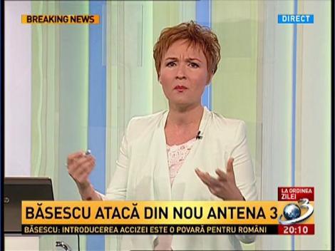 Ce mesaj îi transmite Dana Grecu preşedintelui Traian Băsescu