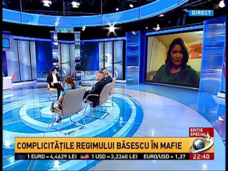 Sinteza Zilei: Oana Stancu, despre complicităţile regimului Băsescu în mafie