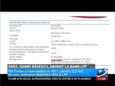 Omul Ioanei Băsescu, abonat la banii LPF
