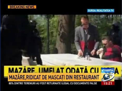 Radu Mazăre, săltat de mascaţi de la un restaurant din Bucureşti