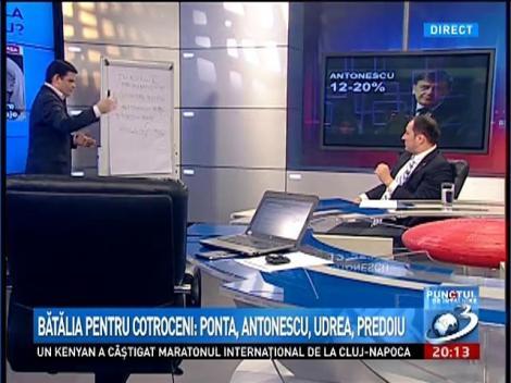 Punctul de Întâlnire: Bătălia de la Cotroceni: Ponta, Antonescu, Udrea, Predoiu