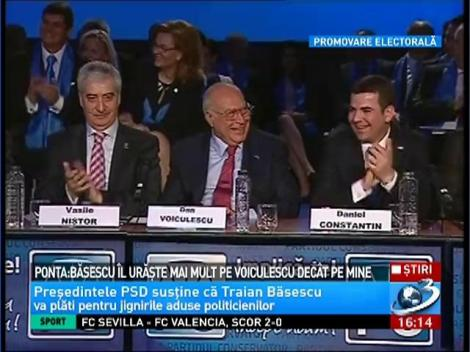 Ponta: Basescu il uraste mai mult pe Voiculescu decat pe mine