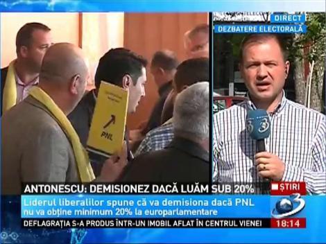 Antonescu: Demisionez daca luam sub 20%