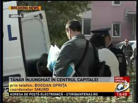 Informaţii despre starea tânărului înjughiat în centru Capitalei