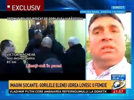 Imagini şocante: Gorilele Elenei Udrea lovesc o femeie la Nana