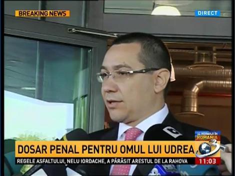 Ponta, despre incidentul de la Nana: Se vor lua măsuri legale