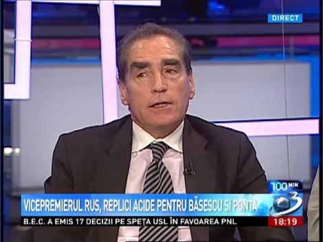 Petre Roman: Agitaţia din presa rusă anti-românească ar trebui să înceteze
