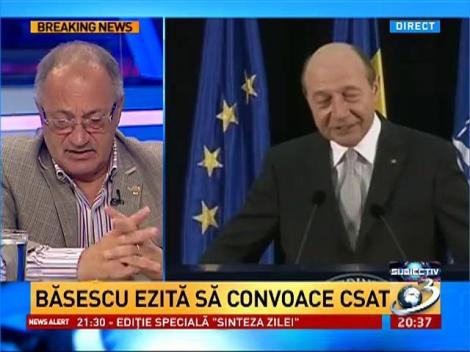 Sorin Roşca Stănescu: Băsescu nu are de ce să convoace CSAT. El primeşte informaţiile în cască