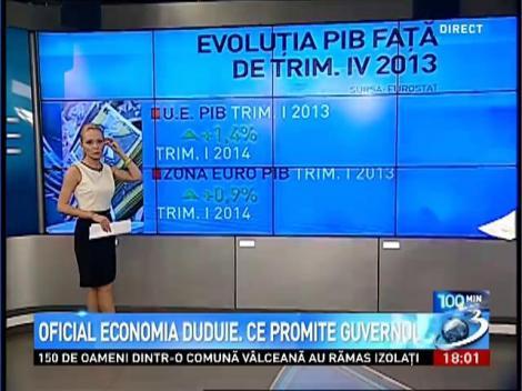 100 de Minute: Oficial, economia duduie. Ce promite Guvernul