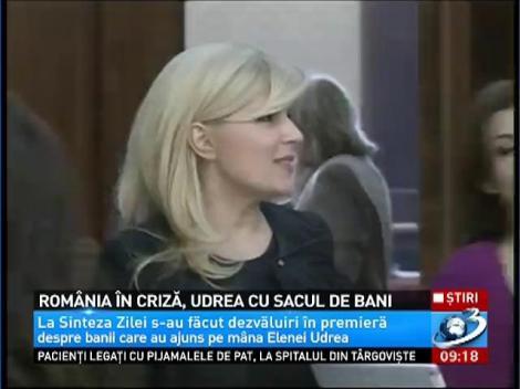 România în criză, Udrea cu sacul de bani