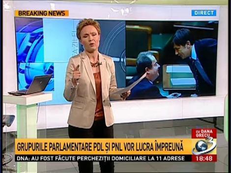 PNL şi PDL fuzionează. Imagini cu Crin Antonescu si Vasile Blaga