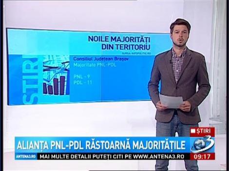 Alianţa PNL-PDL răstoarnă majorităţile