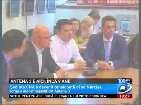 CNA a prelungit licenţa Antena 3 cu 9 ani