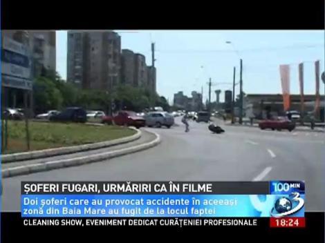Urmărire ca în filme la Baia Mare! Doi şoferi au fugit de la locul unui accident