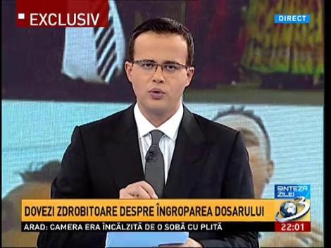 Sinteza Zilei: Dovezi ZDROBITOARE despre îngroparea dosarului Bercea- Mircea Băsescu