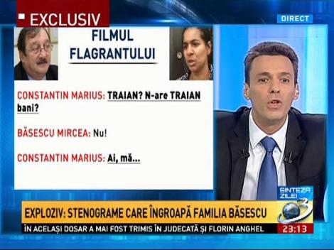Mircea Badea: Stenogramele sunt defapt despre corupţia instituţiilor statului şi despre felul în care ele îl protejează în fel mafiot pe Traian Băsescu