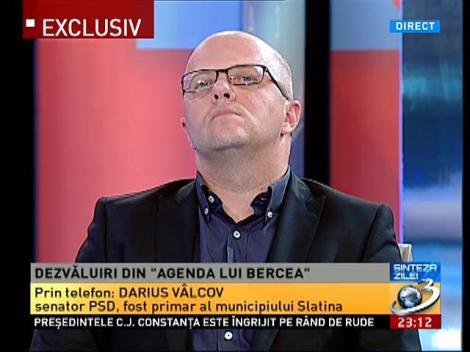 """Darius Vâlcov, fost primar Slatina, despre """"dezvăluirile"""" din agenda lui Bercea"""